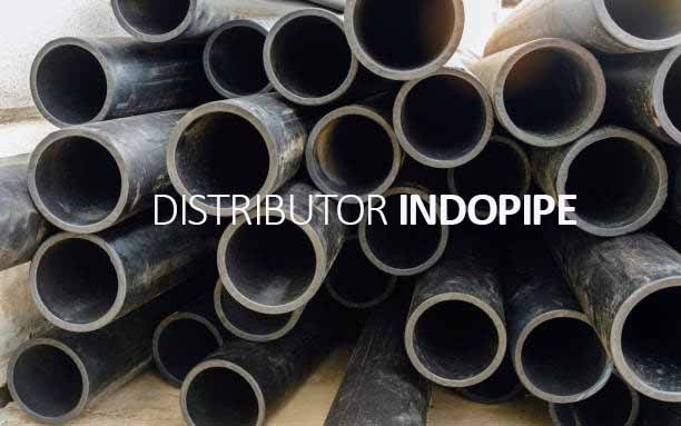 HDPE pipes in the pipeline work of the plant waiting to welding.